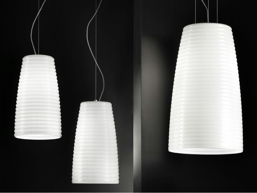 Glass pendant lamp MUMBA SP - Vetreria Vistosi