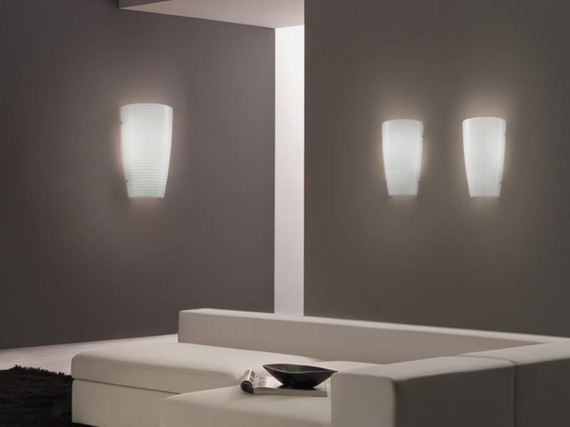 Glass wall light MUMBA AP - Vetreria Vistosi