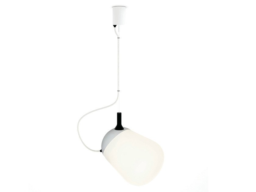 Compact fluorescent adjustable glass pendant lamp HIPPO | Pendant lamp - VERTIGO BIRD