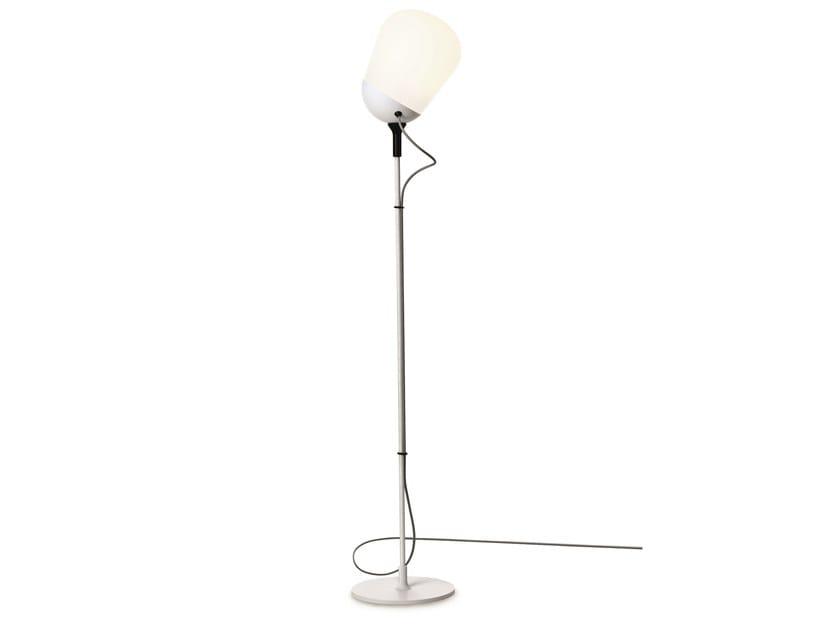 Fluorescent adjustable glass floor lamp HIPPO | Floor lamp - VERTIGO BIRD