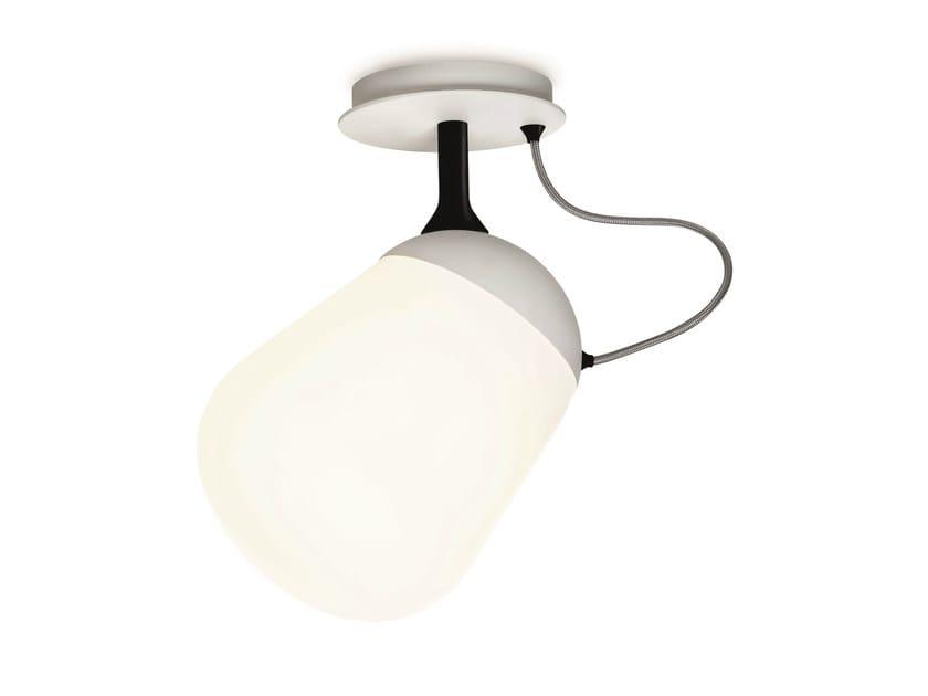 Fluorescent glass ceiling lamp HIPPO | Ceiling lamp - VERTIGO BIRD