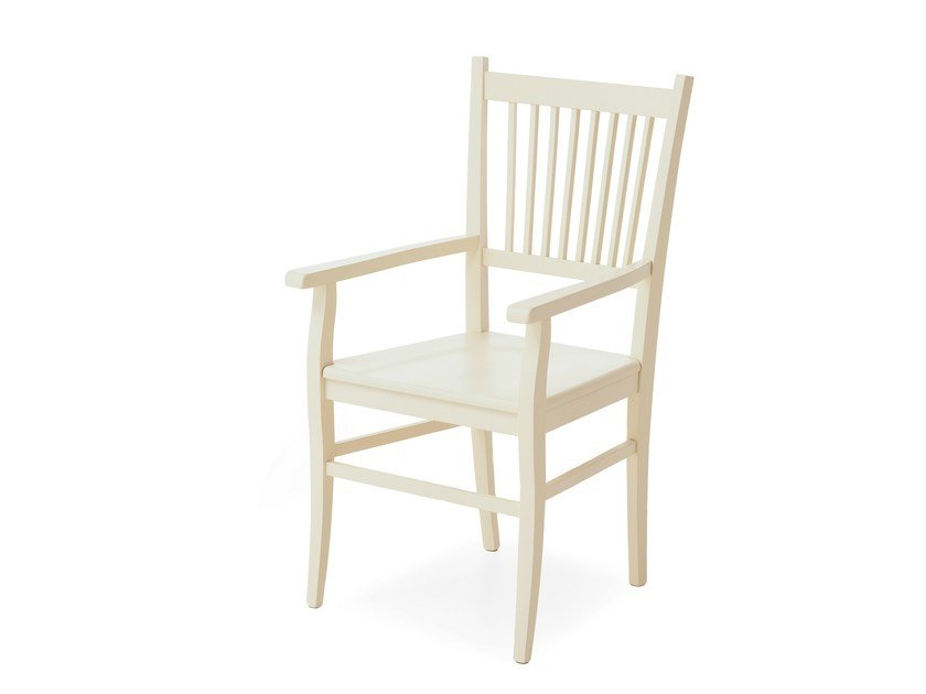 Solid wood chair with armrests PROVENZA | Chair with armrests - Minacciolo