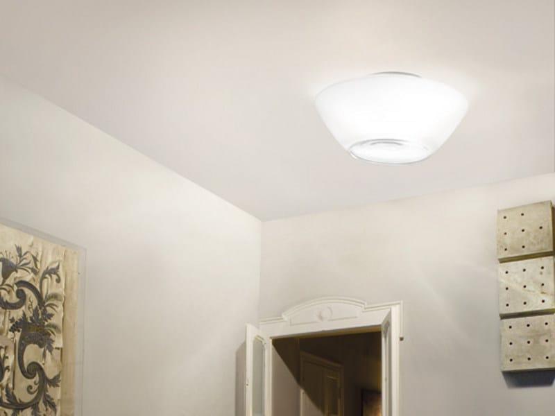 Glass ceiling light NEBULA PL - Vetreria Vistosi