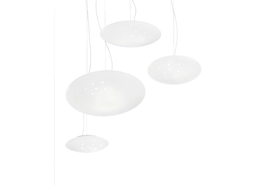 Glass pendant lamp NUVOLA SP - Vetreria Vistosi