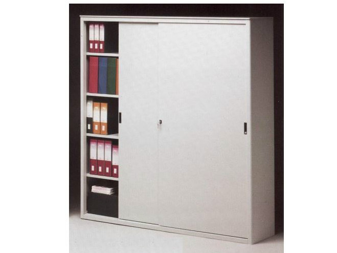 Metal office storage unit with sliding doors Office storage unit with sliding doors - Castellani.it