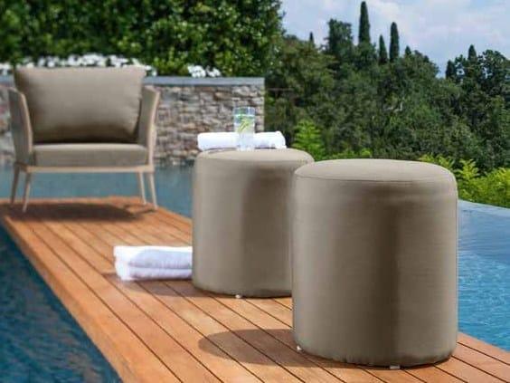 Fabric garden pouf ELITE | Garden pouf - Talenti