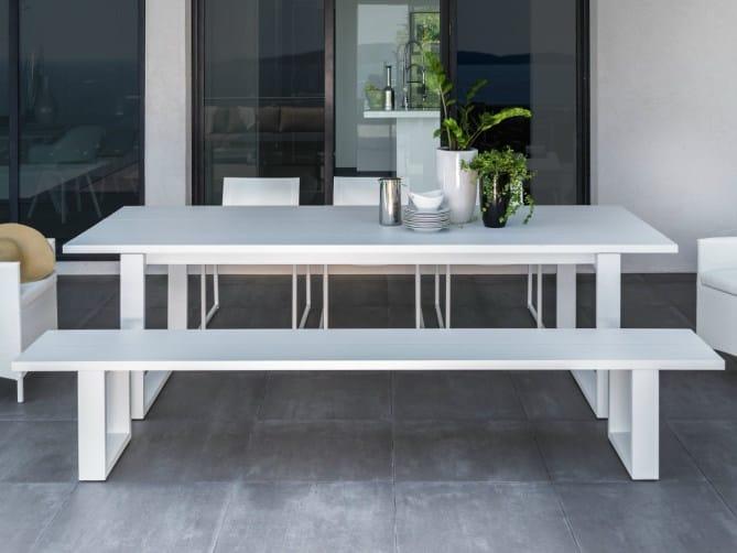 Aluminium garden bench ESSENCE ALUMINIUM | Bench - Talenti