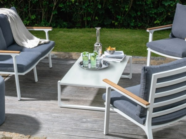 Glass and aluminium garden side table TIMBER | Coffee table by Talenti