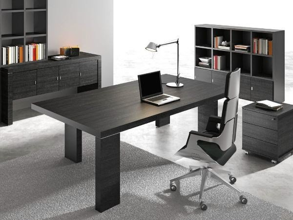 Rectangular wooden office desk TITANO | Office desk - Castellani.it