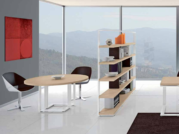 Round wooden meeting table ARCHIMEDE | Round meeting table by Castellani.it