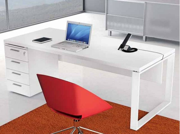 Rectangular wooden office desk with drawers ARCHIMEDE | Office desk with drawers by Castellani.it