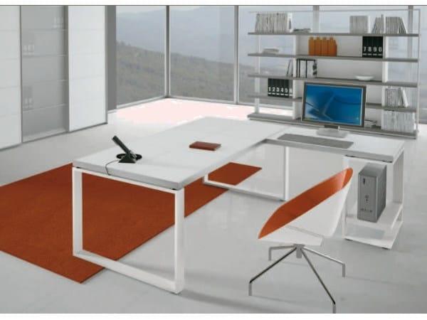 L-shaped wooden office desk ARCHIMEDE   L-shaped office desk - Castellani.it