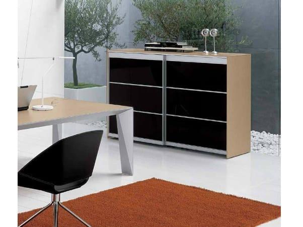 Wooden office storage unit ERACLE | Office storage unit by Castellani.it
