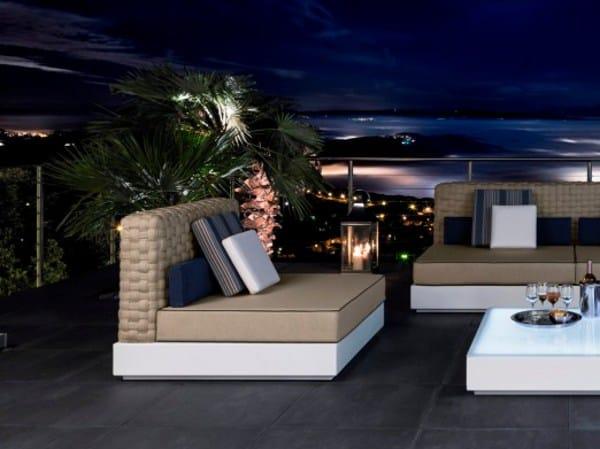 Upholstered garden armchair TENDER | Garden armchair - Talenti