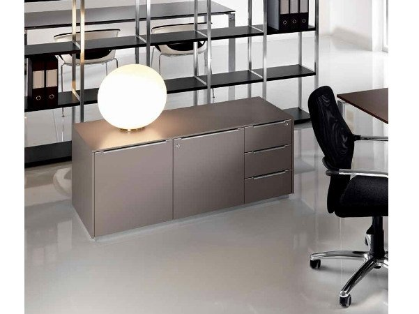 Low wooden office storage unit MEDLEY | Office storage unit - Castellani.it