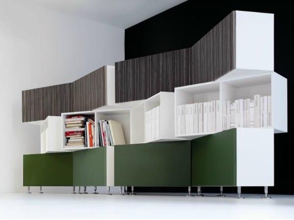 Wooden office shelving MIRÒ | Office shelving - Castellani.it