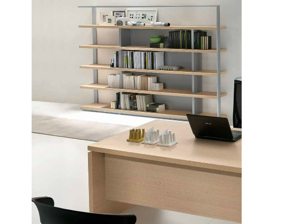 Wooden office shelving ODEON | Office shelving - Castellani.it