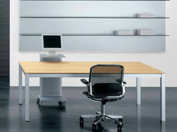 Rectangular wooden workstation desk ZEFIRO EXE | Office desk - Castellani.it