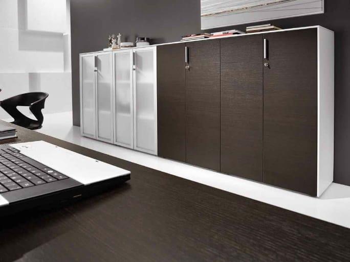 Office storage unit with hinged doors ATREO   Office storage unit - Castellani.it