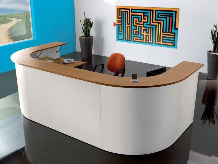 Wooden reception desk FUNNY | Reception desk - Castellani.it