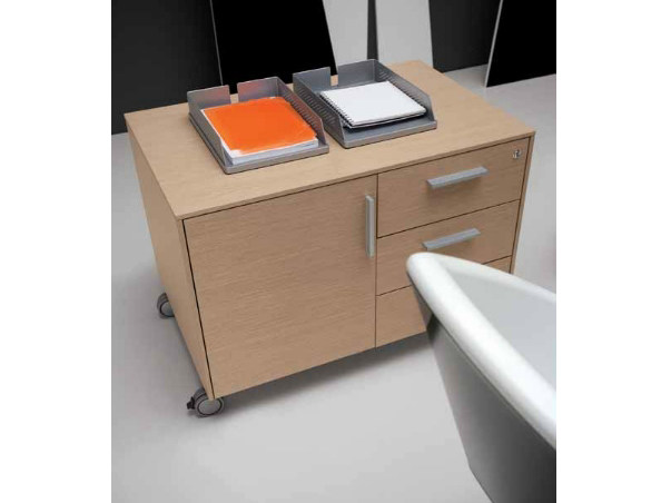 Wooden office drawer unit with casters PEGASO | Office drawer unit by Castellani.it