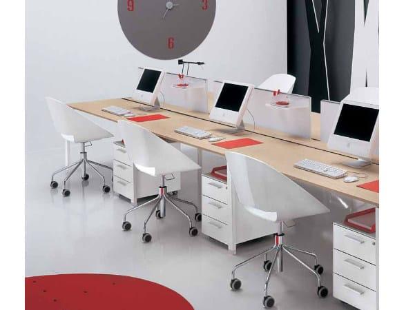 Multiple wooden office workstation PEGASO | Office workstation by Castellani.it