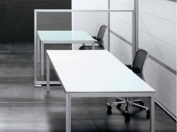 Rectangular wooden office desk ZEFIRO SYS | Office desk - Castellani.it