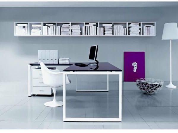 L-shaped rectangular wooden office desk VISTA | L-shaped office desk - Castellani.it