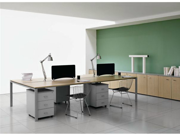 Rectangular wooden office desk VISTA | Office desk - Castellani.it