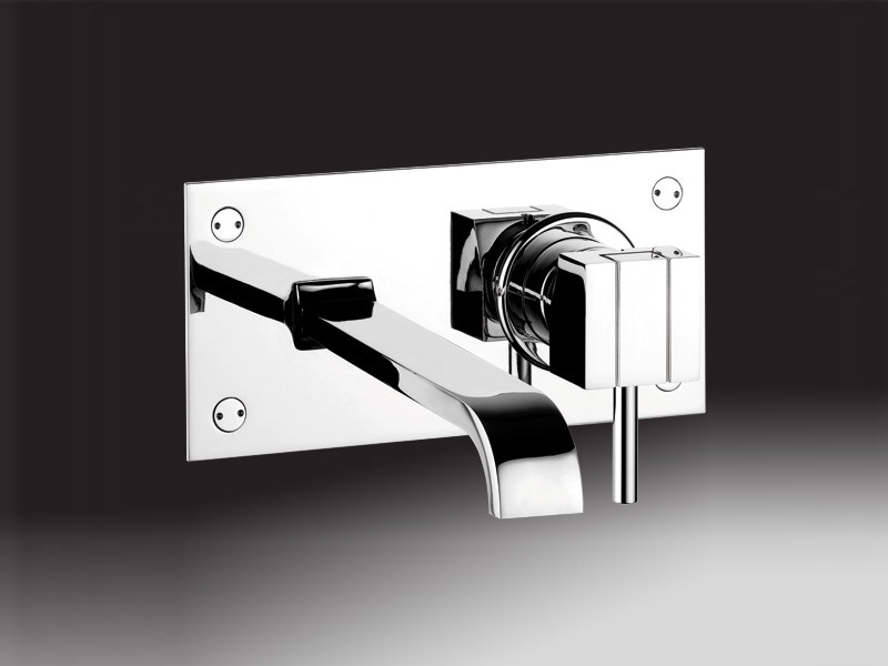 Wall-mounted washbasin mixer with plate PABLO | Washbasin mixer with plate - Giulini G. Rubinetteria
