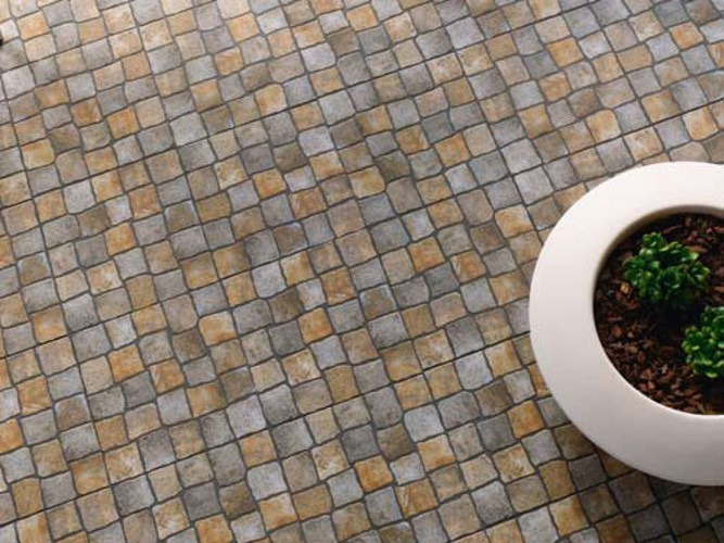Outdoor floor tiles with stone effect EDICER PEDRALVA by Revigrés