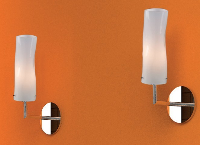 Indirect light blown glass wall lamp with fixed arm GIBÒ | Wall lamp - Cattaneo Illuminazione
