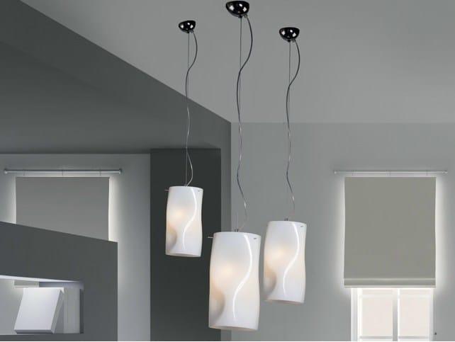 Blown glass pendant lamp GIBÒ | Pendant lamp by Cattaneo