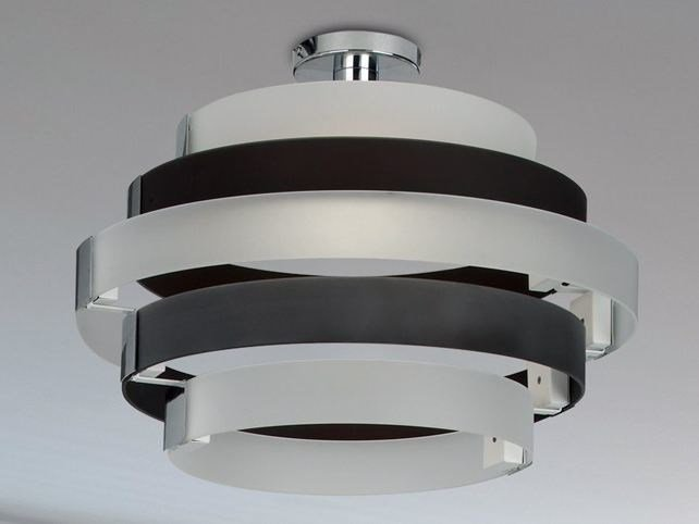 Indirect light glass ceiling lamp CORONA | Glass ceiling lamp - Cattaneo Illuminazione