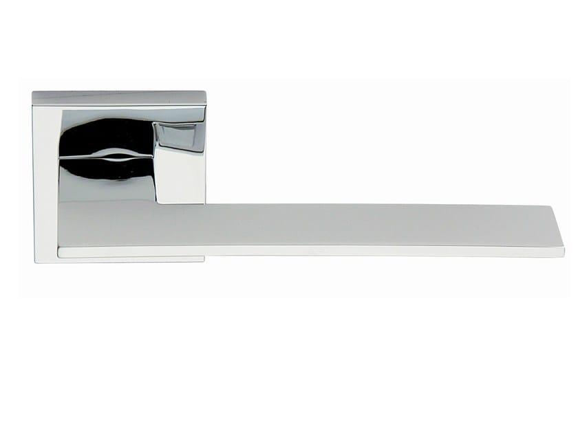 Zamak door handle on rose polished chrome BLADE   Door handle by Frascio