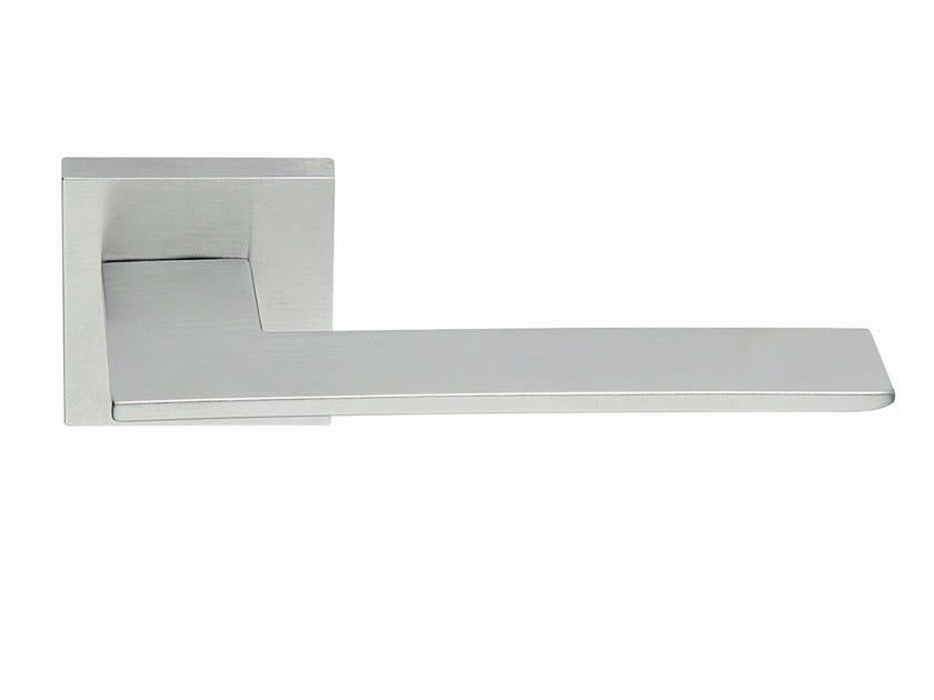Zamak door handle on rose satin chrome BLADE   Door handle - Frascio