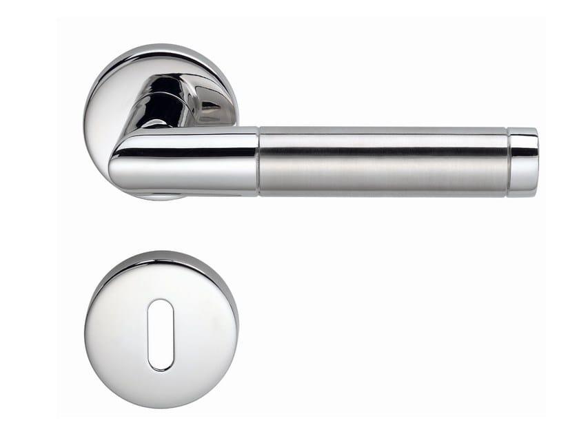 Stainless steel door handle with lock CHRISTINA | Door handle - Frascio