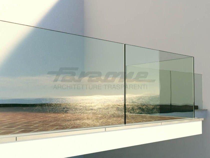 Glass balustrade NINFA by FARAONE