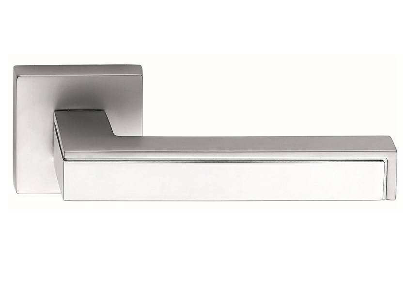 Zamak door handle on rose polished chrome PINAX | Door handle by Frascio