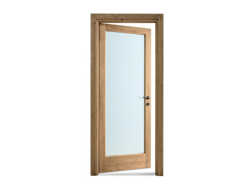 Hinged tempered glass door Tempered glass door - Scandola Mobili