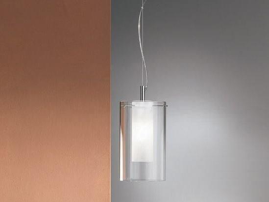 Glass pendant lamp TRASPARENZE   Glass pendant lamp - Cattaneo Illuminazione