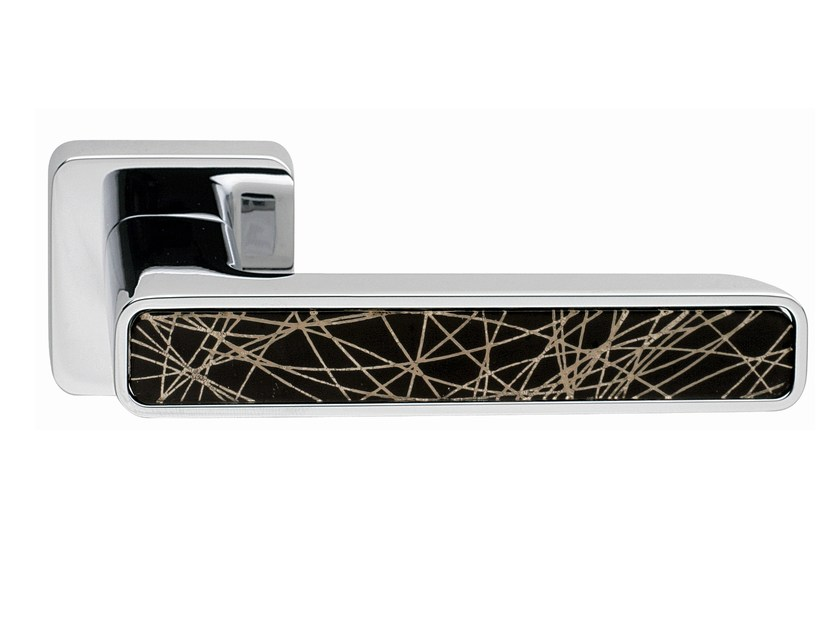 Zamak door handle on rose INNER GLASS | Door handle - Frascio