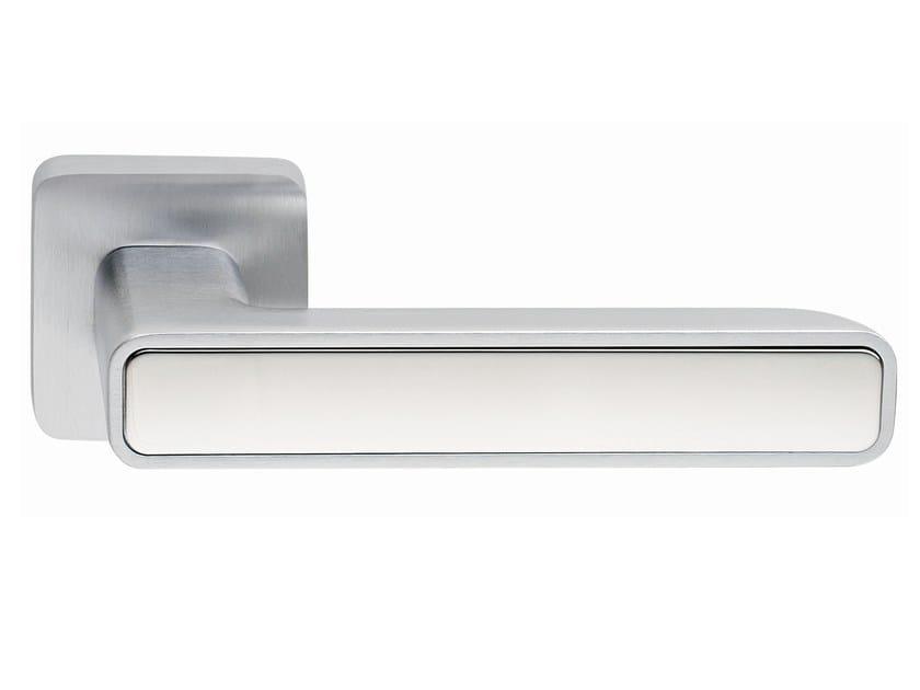 Zamak door handle on rose INNER METAL | Door handle - Frascio
