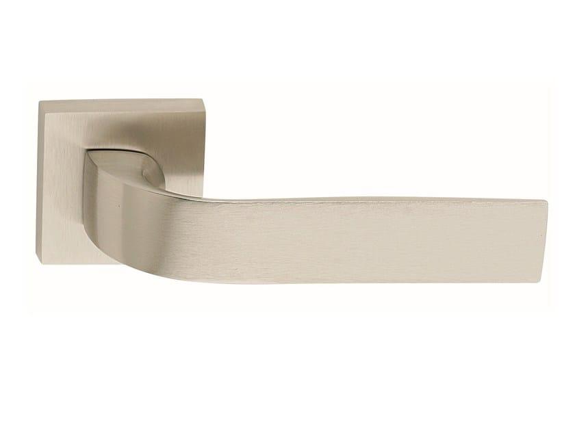 Zamak door handle on rose satin nickel EIDOS   Door handle - Frascio