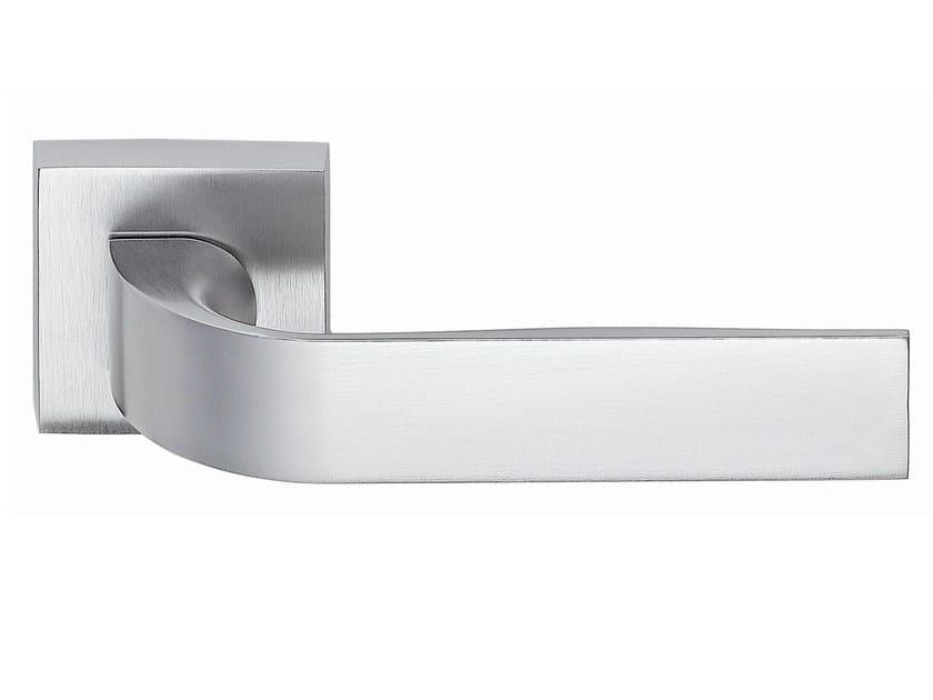 Zamak door handle on rose satin chrome EIDOS   Door handle - Frascio