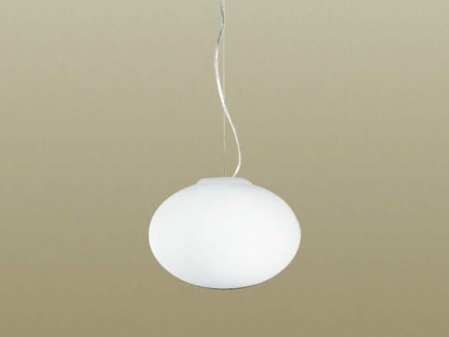 Blown glass pendant lamp BIANCOLATTE - Cattaneo Illuminazione