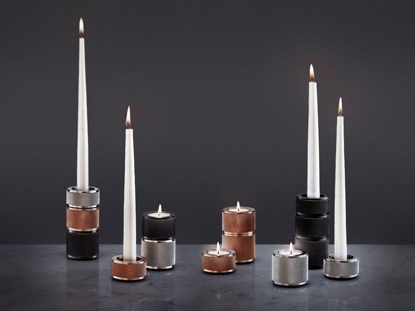 Metal candle holder HEAVY METAL | Candle holder - Buster + Punch