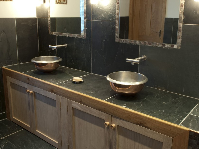 Countertop copper washbasin ROUND - BLEU PROVENCE