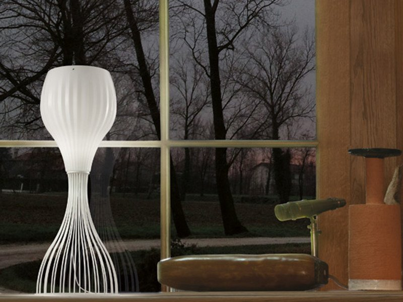 Blown glass table lamp REDER LT by Vetreria Vistosi