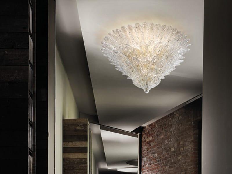 Crystal ceiling lamp RIALTO PL 92F - Vetreria Vistosi